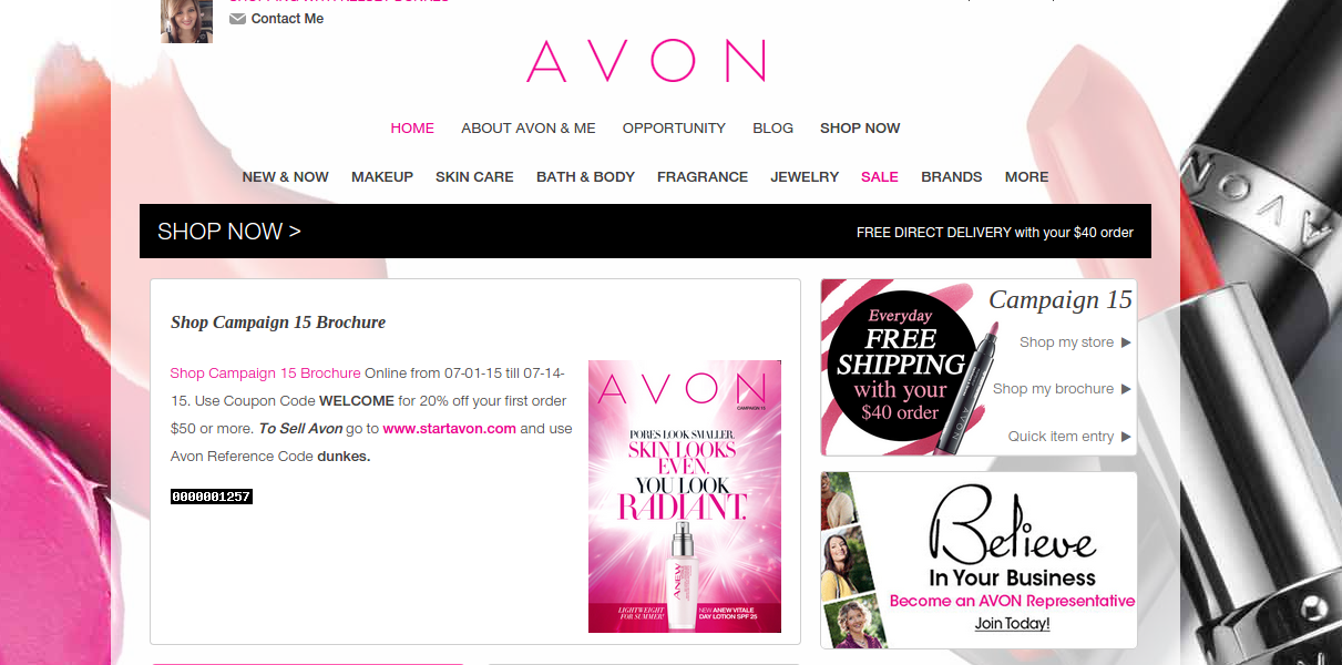 Can you Sell Avon Online Only